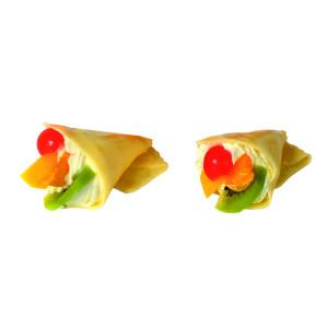 Sýrový kornoutek s ovocem